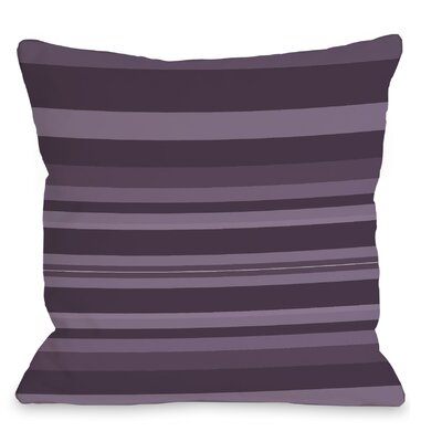 Caroline Stripes Throw Pillow Color: Purple