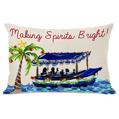 Making Spirits Bright Lumbar Pillow