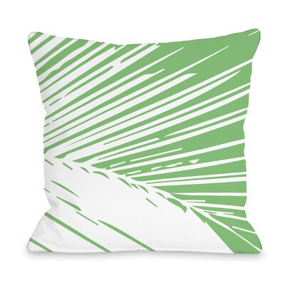 Alaiya Palm Leaves Throw Pillow Color: Green