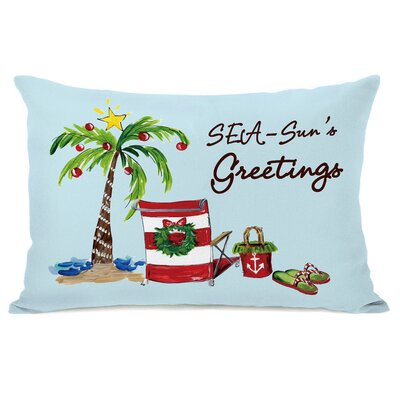 Seasuns Greetings Lumbar Pillow