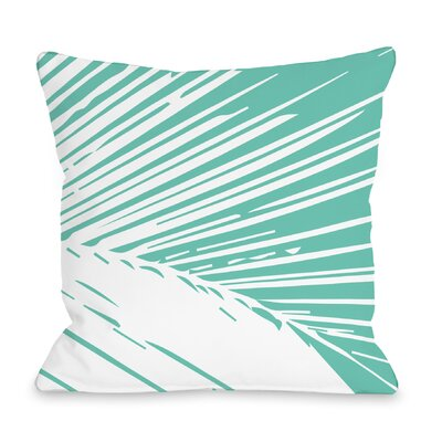 Alaiya Palm Leaves Throw Pillow Color: Turquoise
