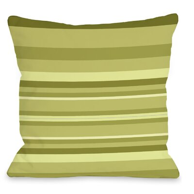 Caroline Stripes Throw Pillow Color: Green