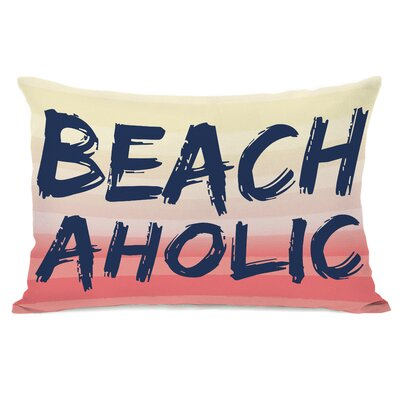 Beachaholic Lumbar Pillow Color: Multi Navy