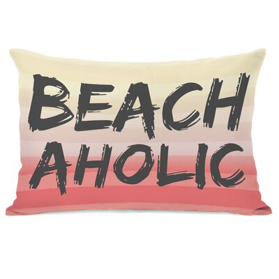 Beachaholic Lumbar Pillow Color: Multi Gray