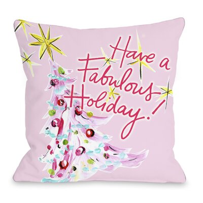Fabulous Holiday Throw Pillow