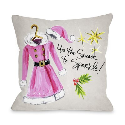 Season to Sparkle Throw Pillow