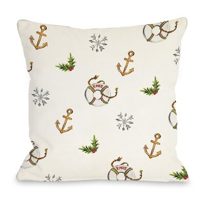 Nautical Xmas Throw Pillow