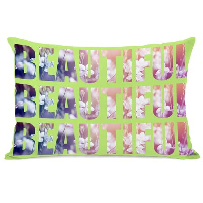 Beautiful Flowers Lumbar Pillow Color: Green Multi