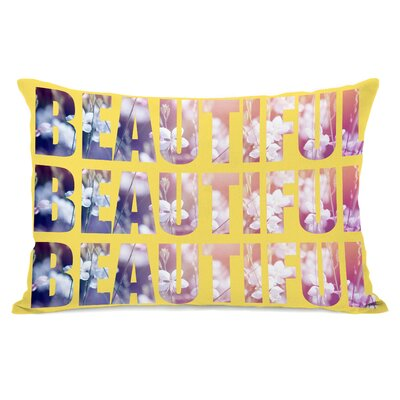 Beautiful Flowers Lumbar Pillow Color: Yellow Multi