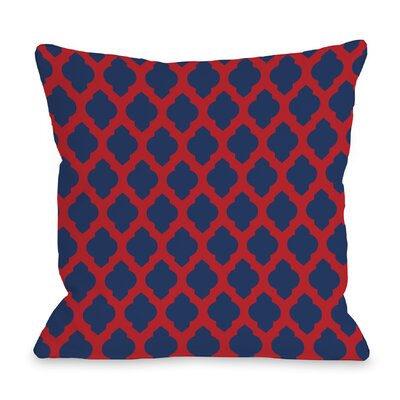 All Over Moroccan Throw Pillow Color: Red
