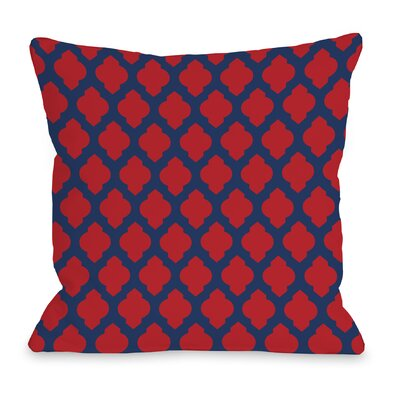 All Over Moroccan Throw Pillow Color: Navy