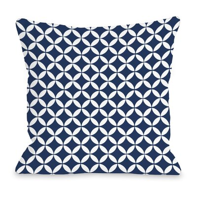 Dahlia Moroccan Throw Pillow Color: Navy