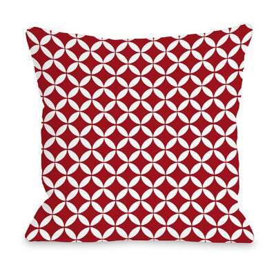 Dahlia Moroccan Throw Pillow Color: Red