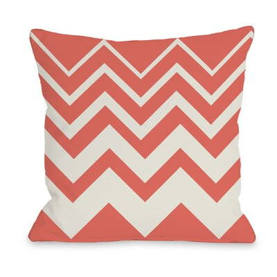 Lisa Chevron Throw Pillow Color: Coral
