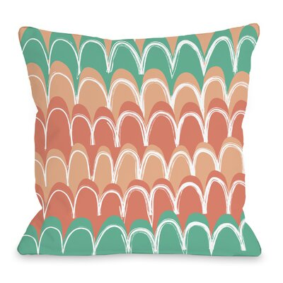 Mila Mountains Throw Pillow Color: Honey Dew Cantaloupe