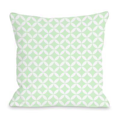 Dahlia Moroccan Throw Pillow Color: Mint