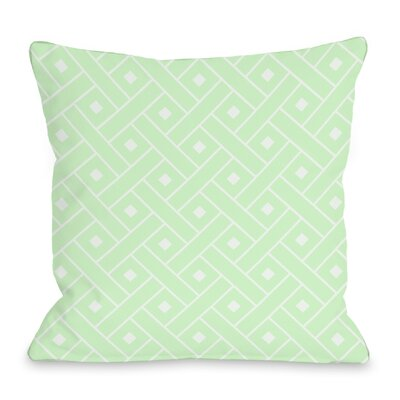 Crosshatch Throw Pillow Color: Mint