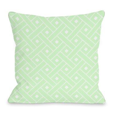 Crosshatch Throw Pillow Color: Mint