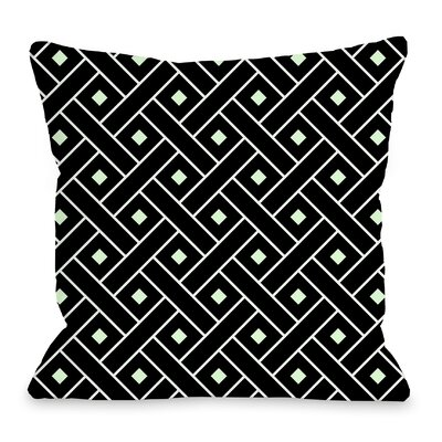 Crosshatch Throw Pillow Color: Black