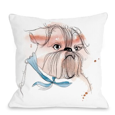 Terrior Puppy Throw Pillow Size: 16 H x 16 W x 3 D