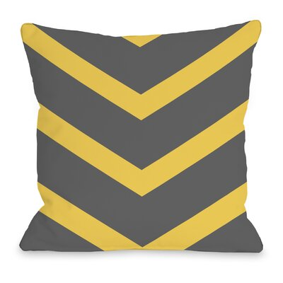 Isabella Reversible Chevron Throw Pillow Color: Yellow