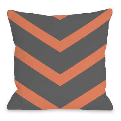 Isabella Reversible Chevron Throw Pillow Color: Orange