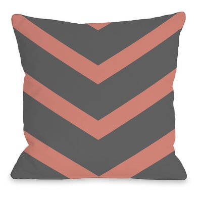 Isabella Reversible Chevron Throw Pillow Color: Coral