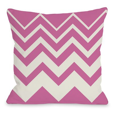 Lisa Chevron Throw Pillow Color: Pink