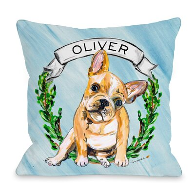 Personalized Timree Frenchie Throw Pillow