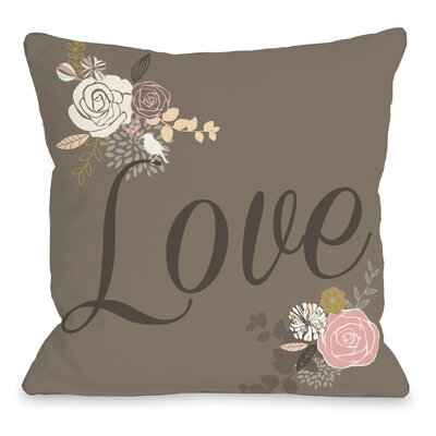 Love Not Reversed Throw Pillow Size: 16 H x 16 W x 3 D