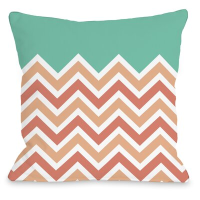 Chevron Solid Throw Pillow Size: 18 H x 18 W x 3 D