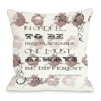 Irreplaceable Throw Pillow