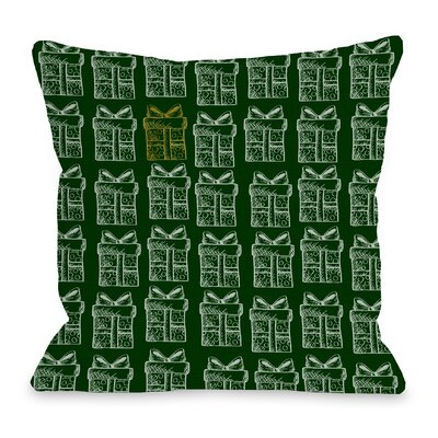 One Special Present Throw Pillow Size: 16 H x 16 W x 3 D
