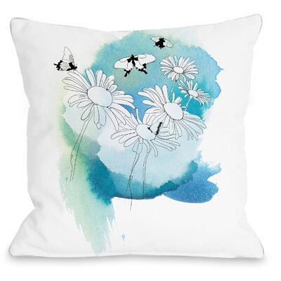 Daisies Throw Pillow Size: 18 H x 18 W x 3 D