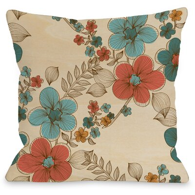 Elegant Sweep Throw Pillow Size: 18 H x 18 W x 3 D, Color: Turquoise Multi