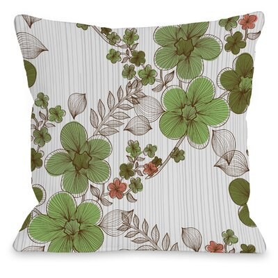 Elegant Sweep Throw Pillow Size: 16 H x 16 W x 3 D, Color: Green Multi