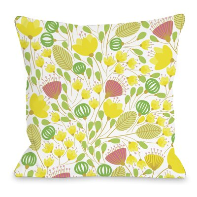 Playful Summer Afternoon Throw Pillow Size: 16 H x 16 W x 3 D