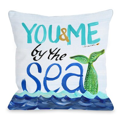 By the Sea Throw Pillow Size: 18 H x 18 W x 3 D