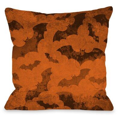 Flying Bats 2 Throw Pillow Size: 16 H x 16 W x 3 D