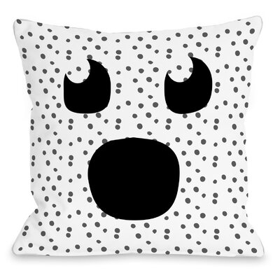 Ghost Face Dots Throw Pillow Size: 16 H x 16 W x 3 D