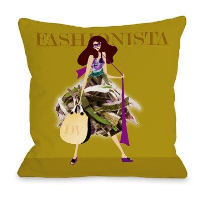 Fashionista Throw Pillow Size: 18 H x 18 W x 3 D