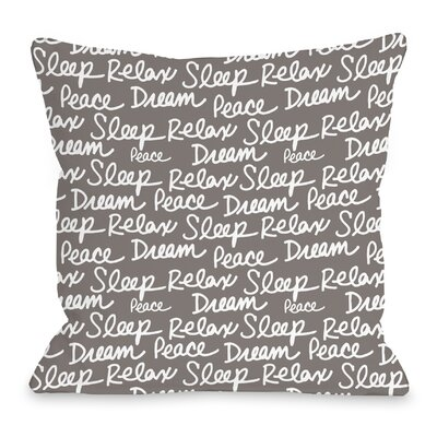 All Over Sleep Words Throw Pillow Size: 16 H x 16 W x 3 D