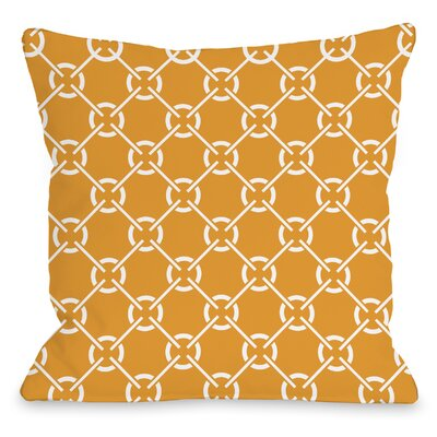 Cecile Circles Throw Pillow Size: 16 H x 16 W x 3 D