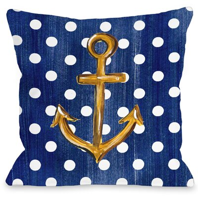 Anchor Dots Throw Pillow Size: 18 H x 18 W x 3 D