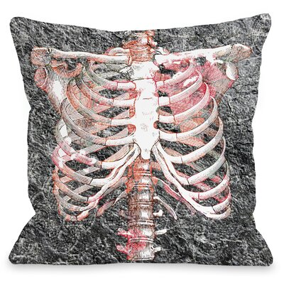 Ribbed Throw Pillow Size: 16 H x 16 W x 3 D