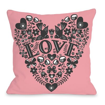 Folk Ephermera Throw Pillow Size: 18 H x 18 W x 3 D