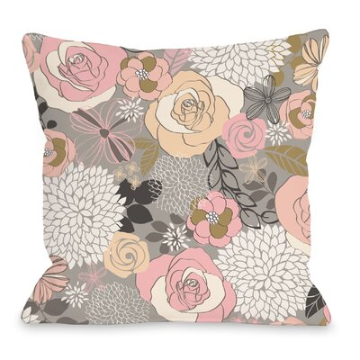Happy Florals Throw Pillow Size: 18 H x 18 W x 3 D