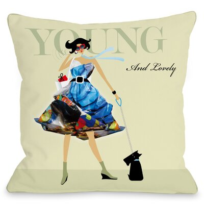 Young and Lovely Throw Pillow Size: 16 H x 16 W x 3 D