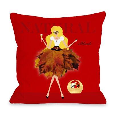Natural Blonde Throw Pillow Size: 18 H x 18 W x 3 D