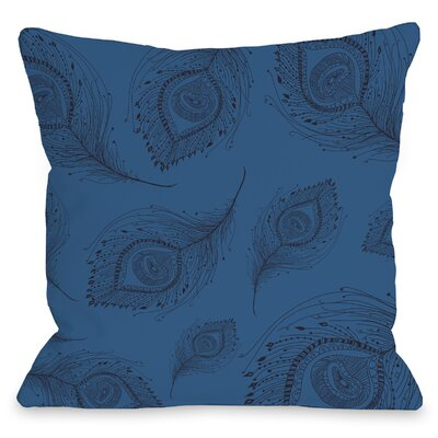 Mandra Peacock Throw Pillow Size: 18 H x 18 W x 3 D